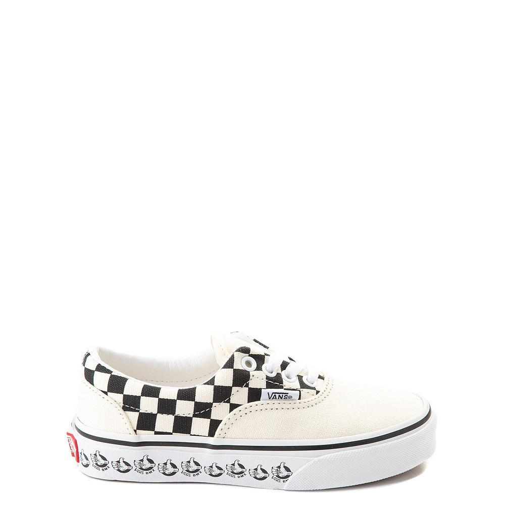 Vans Era BMX Checkerboard Skate Shoe - Little Kid / Big Kid - White / Black