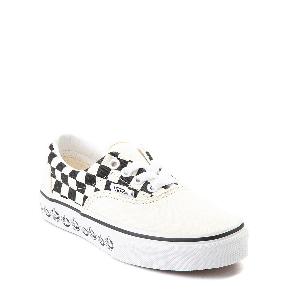 official new authentic good Vans Era BMX Checkerboard Skate Shoe - Little Kid / Big Kid - White / Black