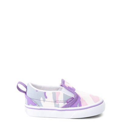 Main view of Vans Slip On V Skate Shoe - Baby / Toddler - Pastel Camo