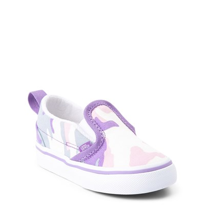 Alternate view of Vans Slip On V Skate Shoe - Baby / Toddler - Pastel Camo