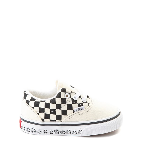 Default view of Vans Era BMX Checkerboard Skate Shoe - Baby / Toddler - White / Black