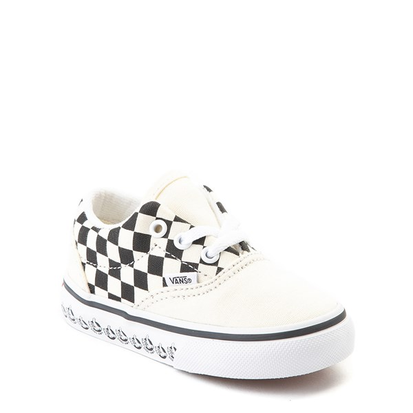 Alternate view of Vans Era BMX Checkerboard Skate Shoe - Baby / Toddler - White / Black