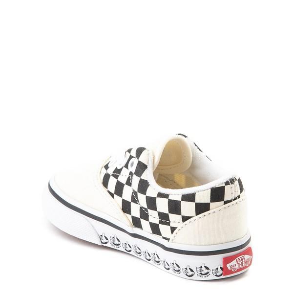 alternate view Vans Era BMX Checkerboard Skate Shoe - Baby / Toddler - White / BlackALT2
