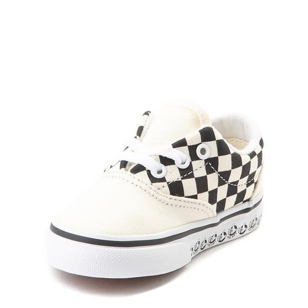 alternate view Vans Era BMX Checkerboard Skate Shoe - Baby / Toddler - White / BlackALT3