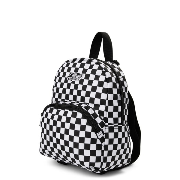 alternate view Vans Got This Checkered Mini Backpack - Black / WhiteALT2