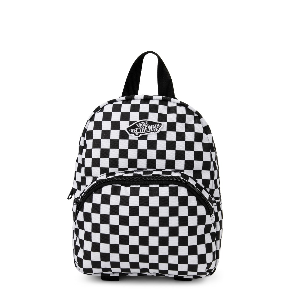Vans Got This Checkered Mini Backpack - Black / White