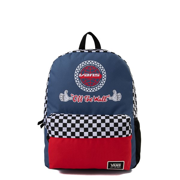 Vans BMX Checkered Backpack - True Navy / Red