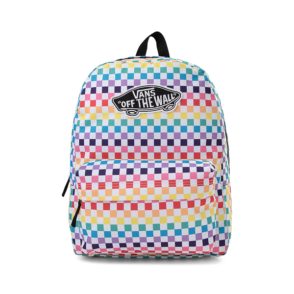 Main view of Vans Checkerboard Realm Backpack - Rainbow