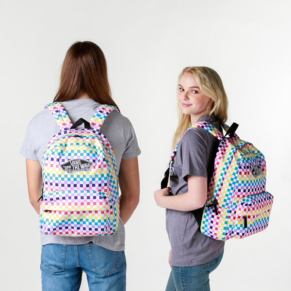 alternate view Vans Checkerboard Realm Backpack - RainbowALT1BADULT