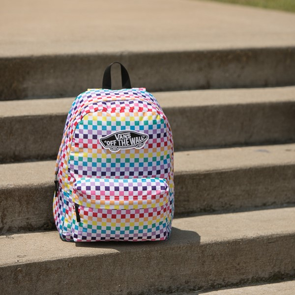 alternate view Vans Rainbow Checkerboard Realm Backpack - MultiALT1BB