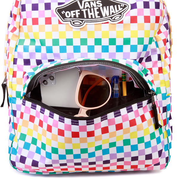 alternate view Vans Checkerboard Realm Backpack - RainbowALT3B