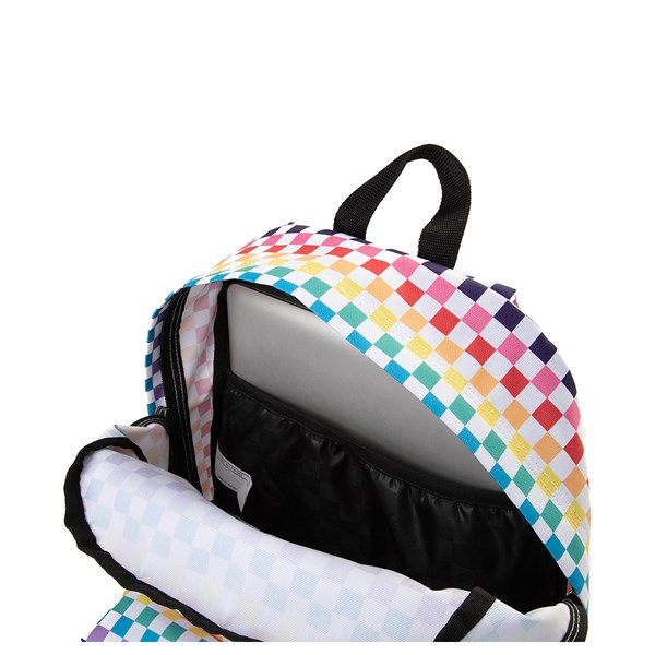 alternate view Vans Rainbow Checkerboard Realm Backpack - MultiALT3