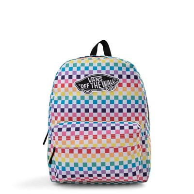 Main view of Vans Rainbow Checkerboard Realm Backpack