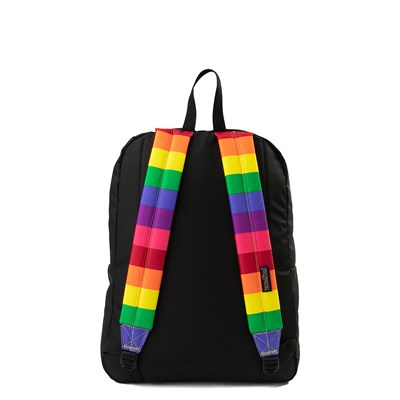 Alternate view of JanSport High Stakes Rainbow Dream Backpack - Black / Multi