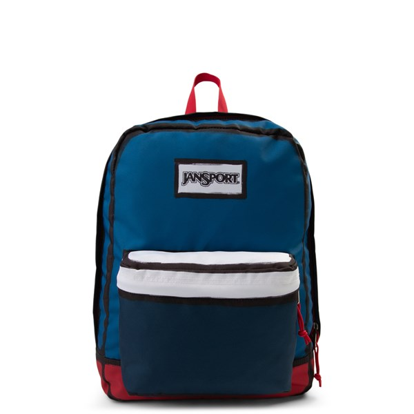 Main view of JanSport High Stakes Backpack - Red / White / Blue