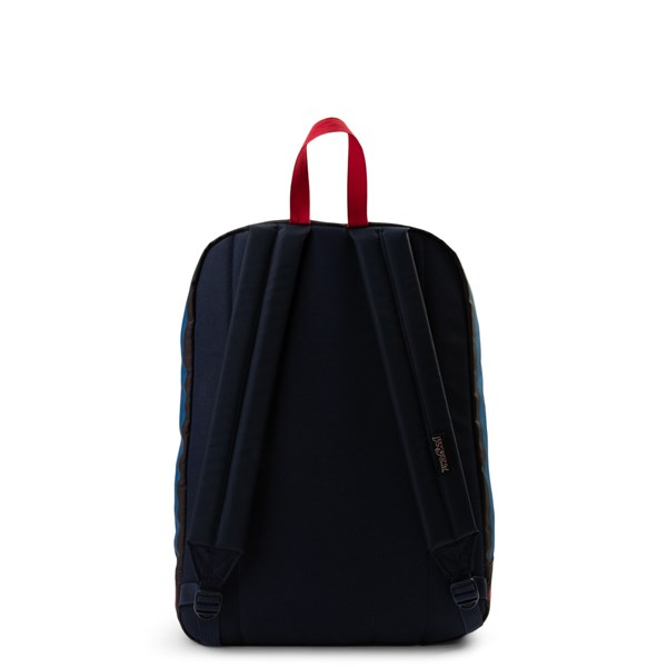 alternate view JanSport High Stakes Backpack - Red / White / BlueALT1
