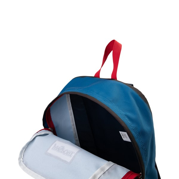 alternate view JanSport High Stakes Backpack - Red / White / BlueALT3