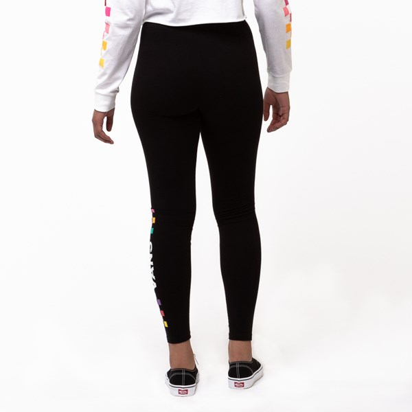 alternate view Womens Vans Wound Up Leggings - Black / MultiALT1