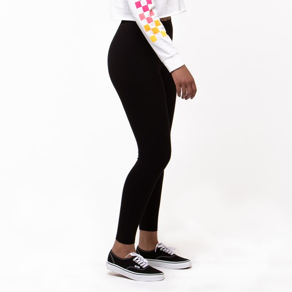 alternate view Womens Vans Wound Up Leggings - Black / MultiALT2