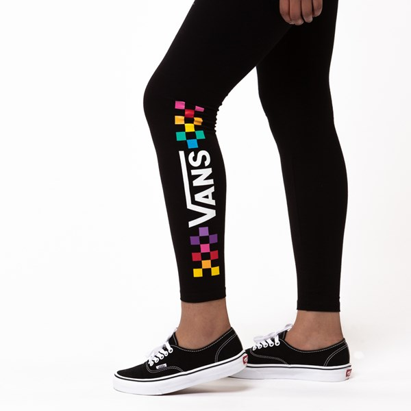 alternate view Womens Vans Wound Up Leggings - Black / MultiALT4
