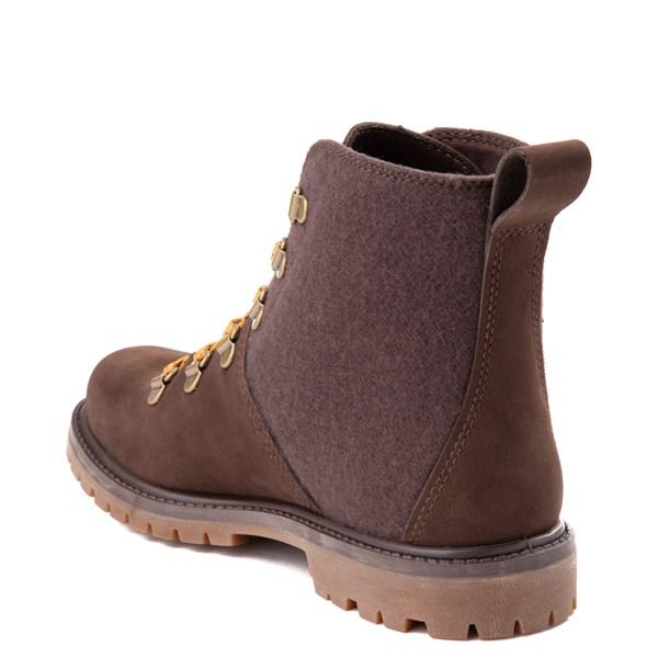 alternate view Womens Timberland Authentic Hiker Boot - Dark BrownALT2