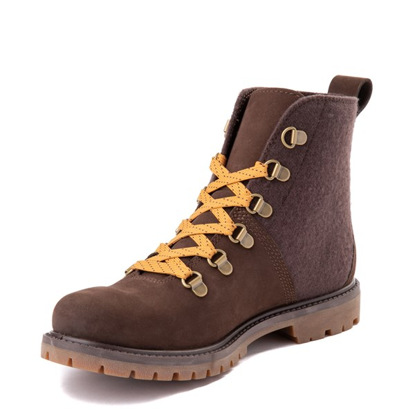 alternate view Womens Timberland Authentic Hiker Boot - Dark BrownALT3