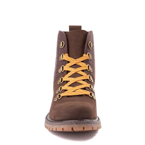 alternate view Womens Timberland Authentic Hiker Boot - Dark BrownALT4