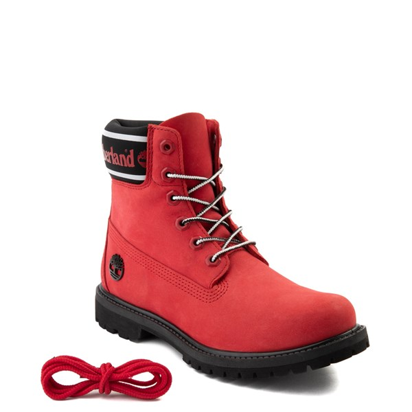 "alternate view Womens Timberland 6"" Premium Boot - Cherry RedALT1"