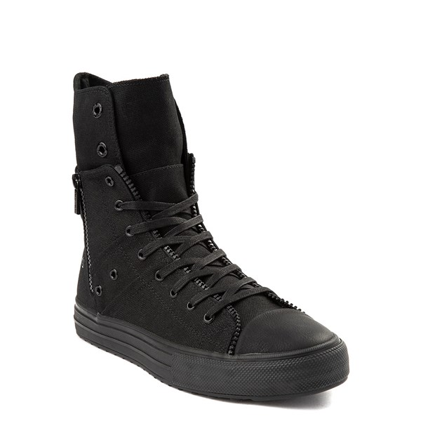 alternate view Mens Levi's Zip X Hi Casual Shoe - BlackALT1