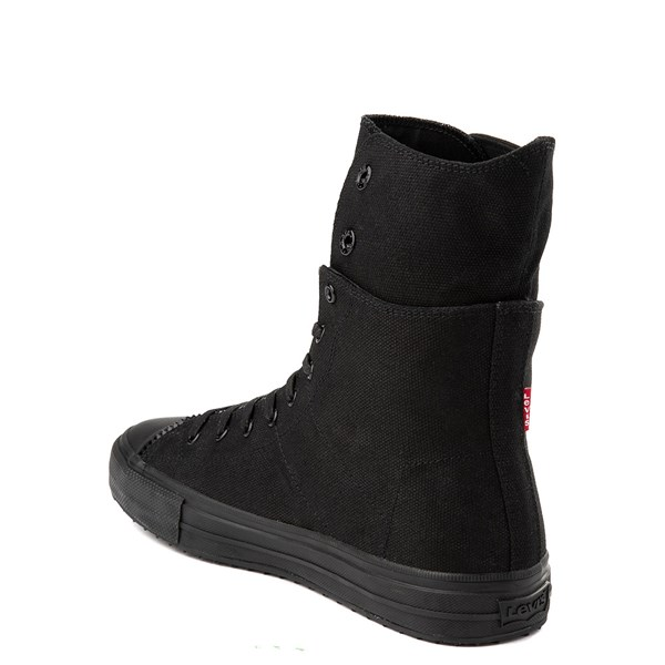 alternate view Mens Levi's Zip X Hi Casual Shoe - BlackALT2