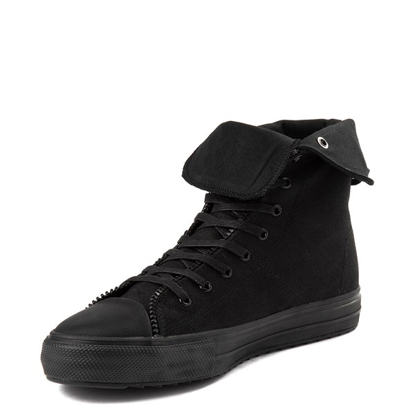 alternate view Mens Levi's Zip X Hi Casual Shoe - BlackALT3