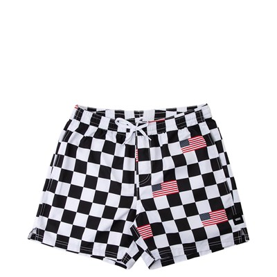 Main view of Mens Vans Checkered Flag Volley Shorts