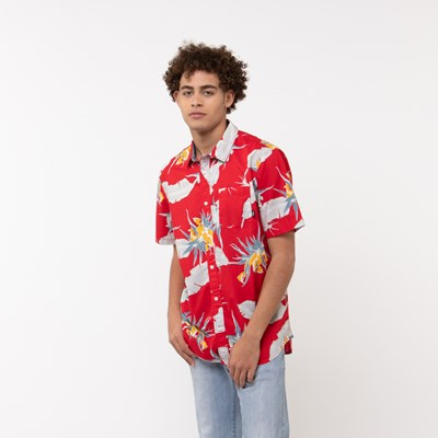 Main view of Mens Vans Arachnofloria Button Down Shirt