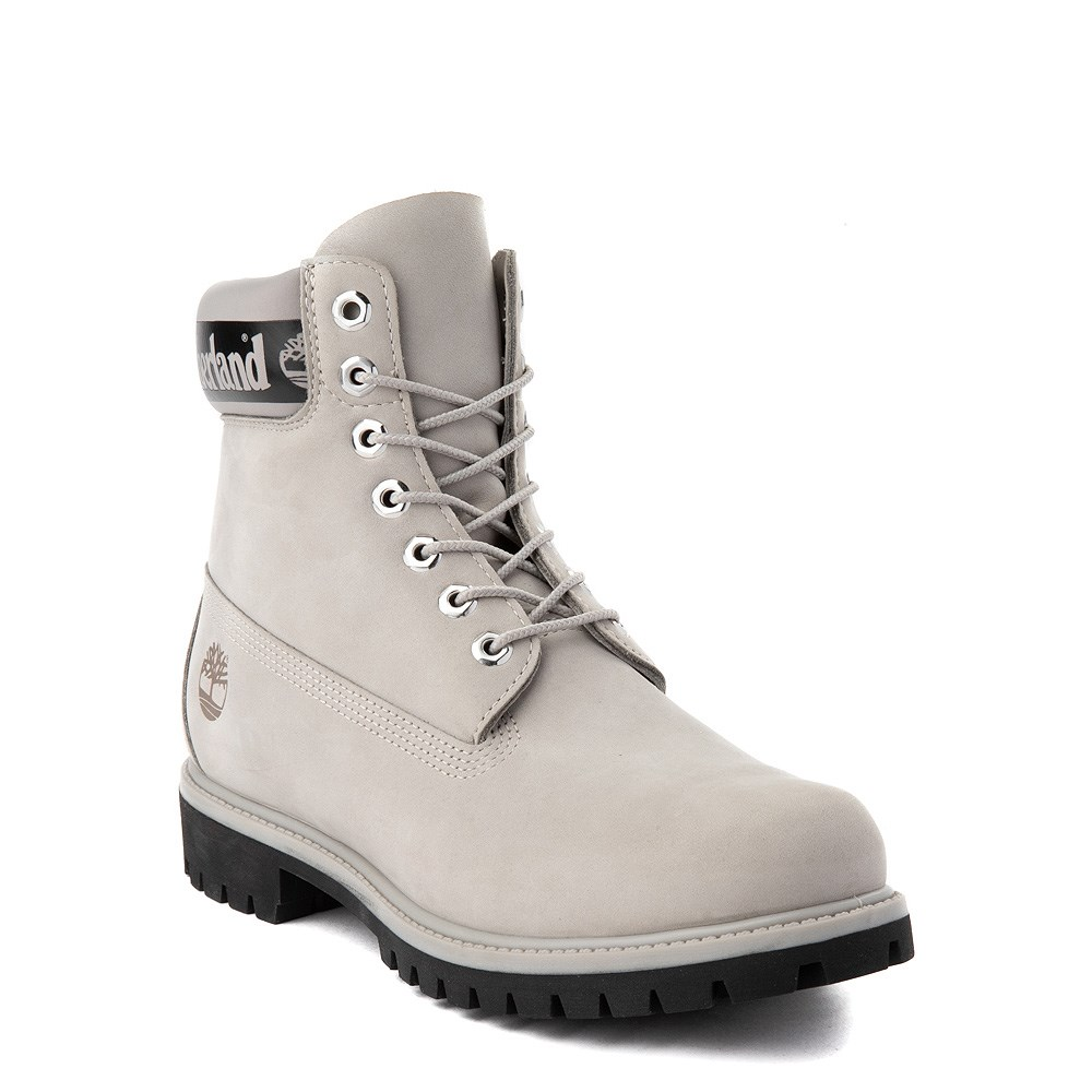 Mens Timberland 6 Inch Boots Line Wheat White