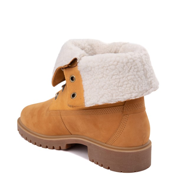 Alternate view of Womens Timberland Jayne Fleece Boot - Wheat