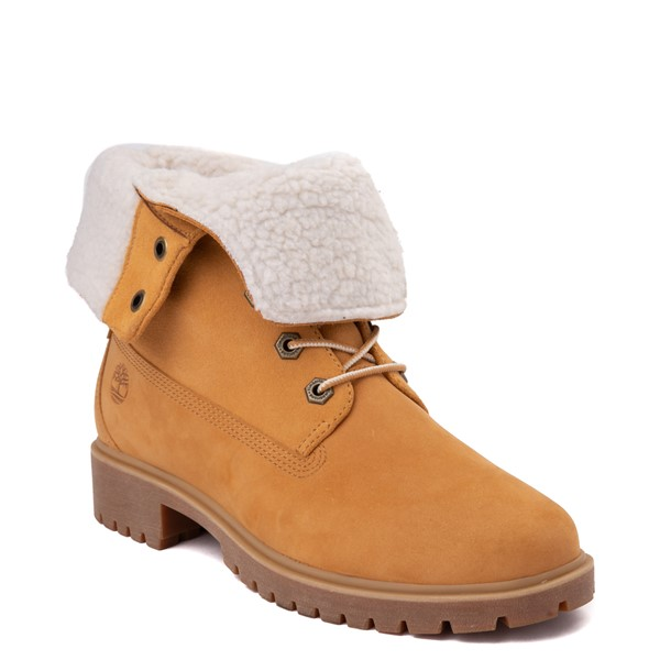 alternate view Womens Timberland Jayne Fleece Boot - WheatALT5