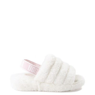 Main view of Womens UGG® Fluff Yeah Slide Sandal - White