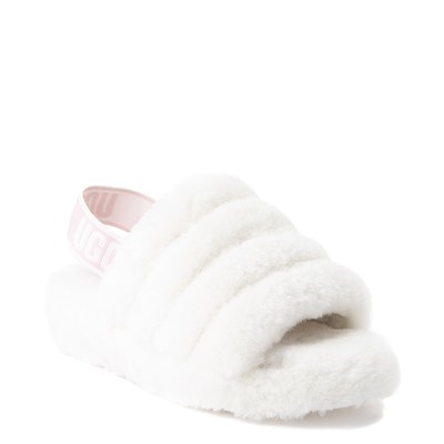 Alternate view of Womens UGG® Fluff Yeah Slide Sandal - White