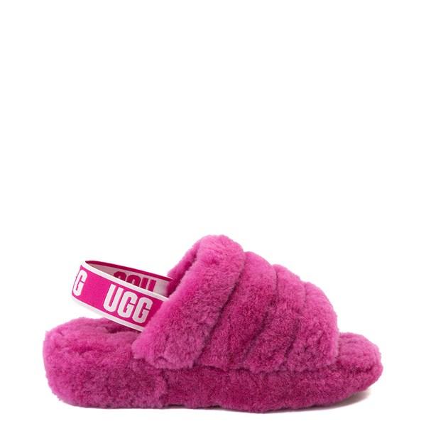 Womens UGG® Fluff Yeah Slide Sandal - Fuchsia