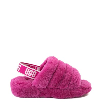 Main view of Womens UGG® Fluff Yeah Slide Sandal - Fuchsia