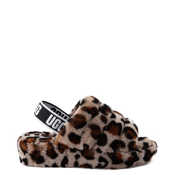 Main view of Womens UGG® Fluff Yeah Slide Sandal - Leopard