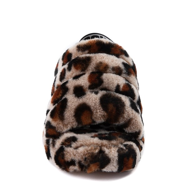 alternate view Womens UGG® Fluff Yeah Slide Sandal - LeopardALT4