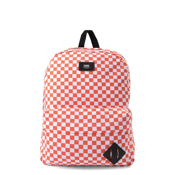 Vans Old Skool Checkerboard Backpack - Orange / White