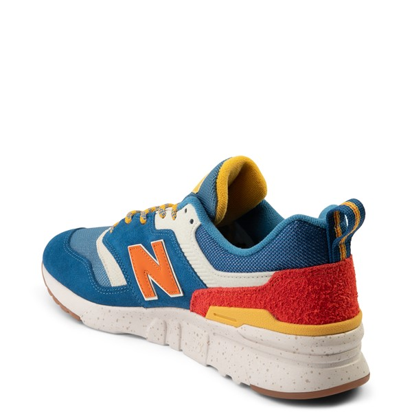 alternate view Mens New Balance 997H Athletic Shoe - Blue / OrangeALT1