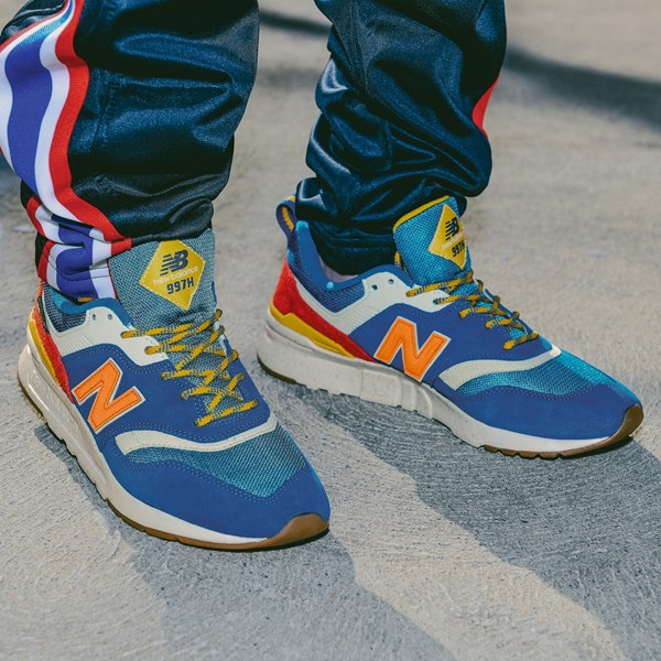 alternate view Mens New Balance 997H Athletic Shoe - Blue / OrangeB-LIFESTYLE1