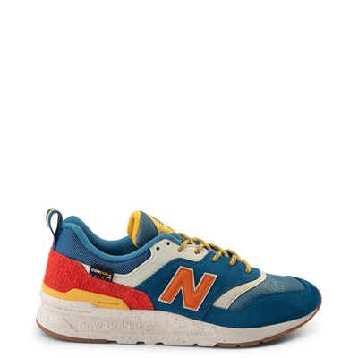 Main view of Mens New Balance 997H Athletic Shoe - Blue / Orange
