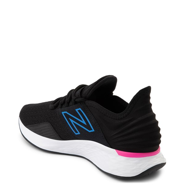 alternate view Womens New Balance Fresh Foam Roav Athletic Shoe - Black / Blue / PinkALT2