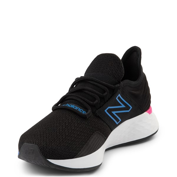 alternate view Womens New Balance Fresh Foam Roav Athletic Shoe - Black / Blue / PinkALT3