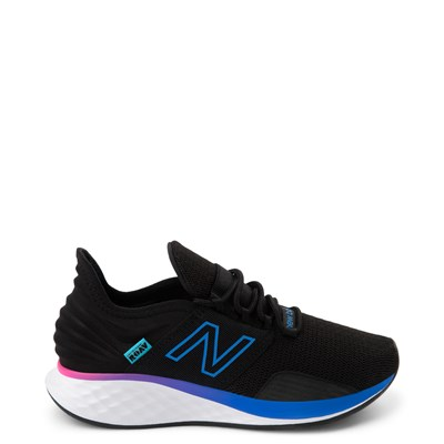 Main view of Womens New Balance Fresh Foam Roav Athletic Shoe - Black / Blue / Pink