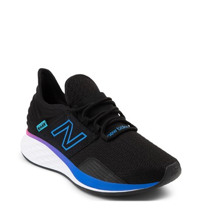 Alternate view of Womens New Balance Fresh Foam Roav Athletic Shoe - Black / Blue / Pink